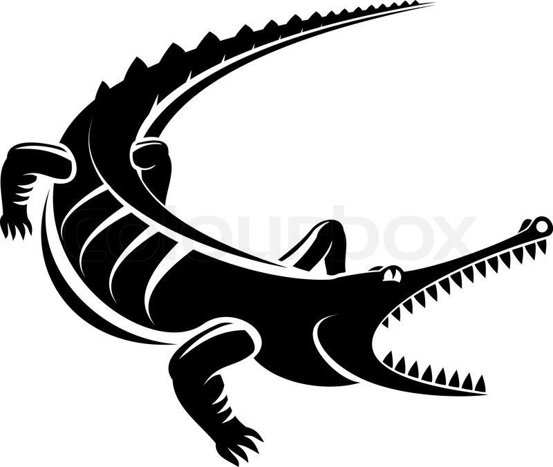 800x676 Isolated Shape Of Crocodile As A Mascot Stock Vector Colourbox