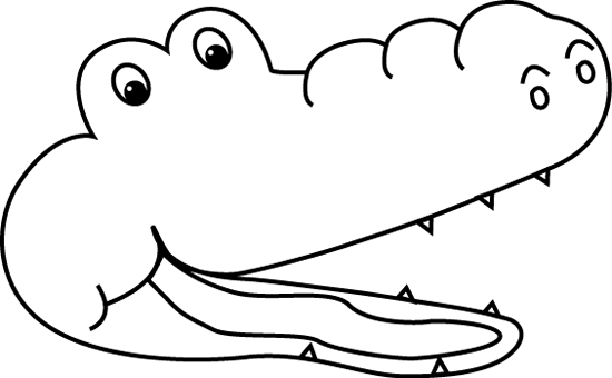 550x340 Alligator Black And White Alligator Outline Clipart 4
