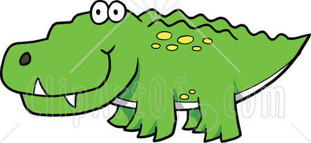 450x207 Clipart Crocodiles