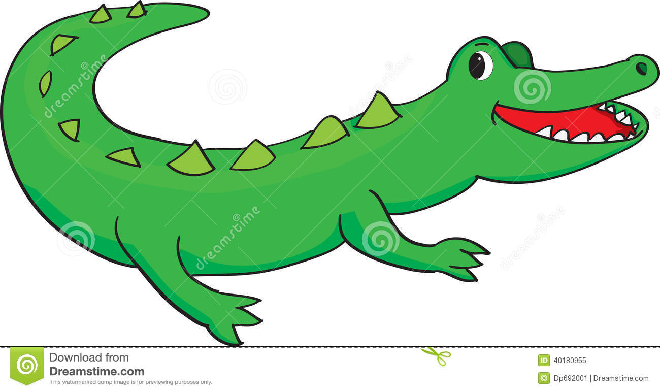1300x772 Crocodile clipart happy