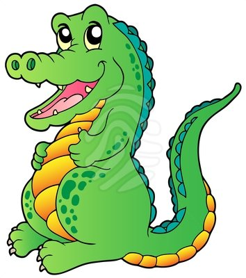 354x400 Dock Clipart Crocodile