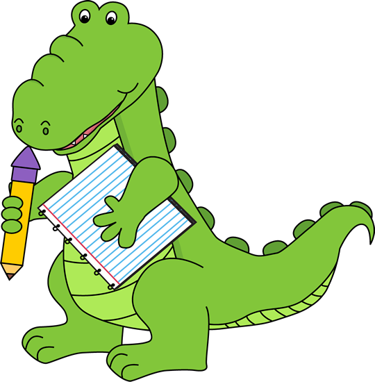 540x550 School Alligator Clip Art