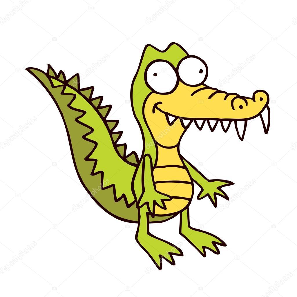 1024x1024 Crocodile Cartoon Smiling Alligator Stock Vector Aliasching