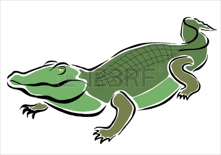 450x317 Drawing Of A Crocodile Royalty Free Cliparts, Vectors, And Stock