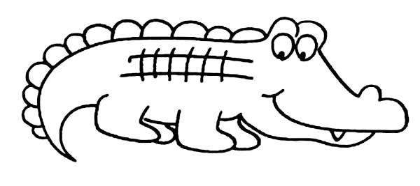 600x267 Drawn Crocodile Kid