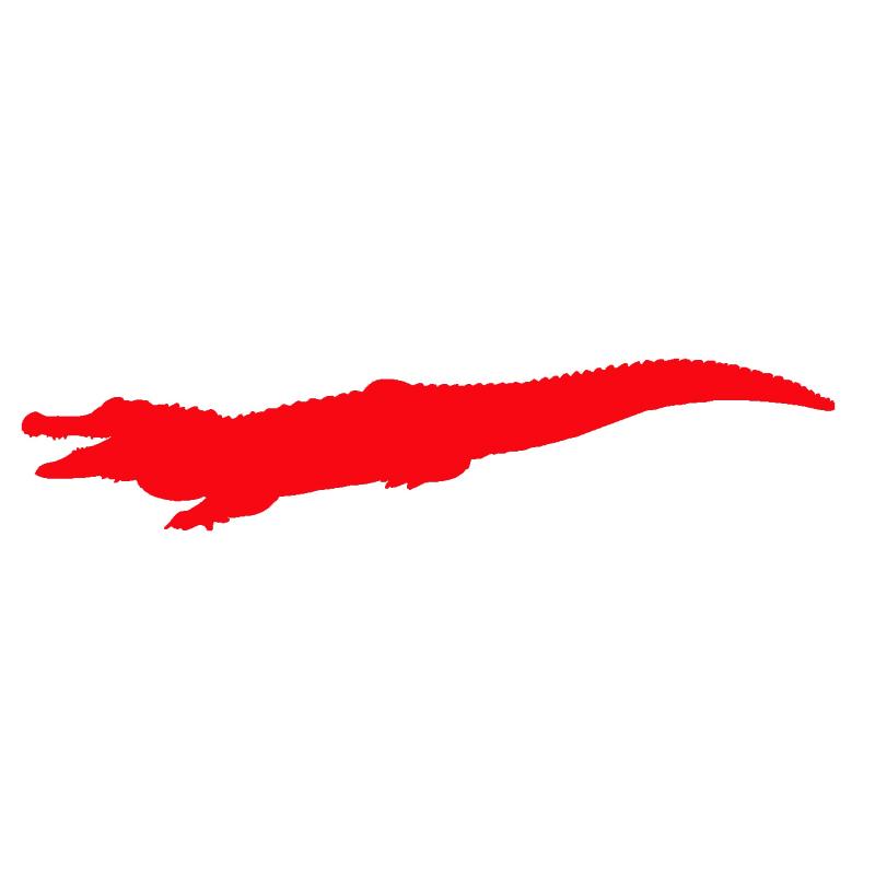800x800 Cartoon Croc Crocodile Reptile Silhouette Jdm Car Sticker Truck