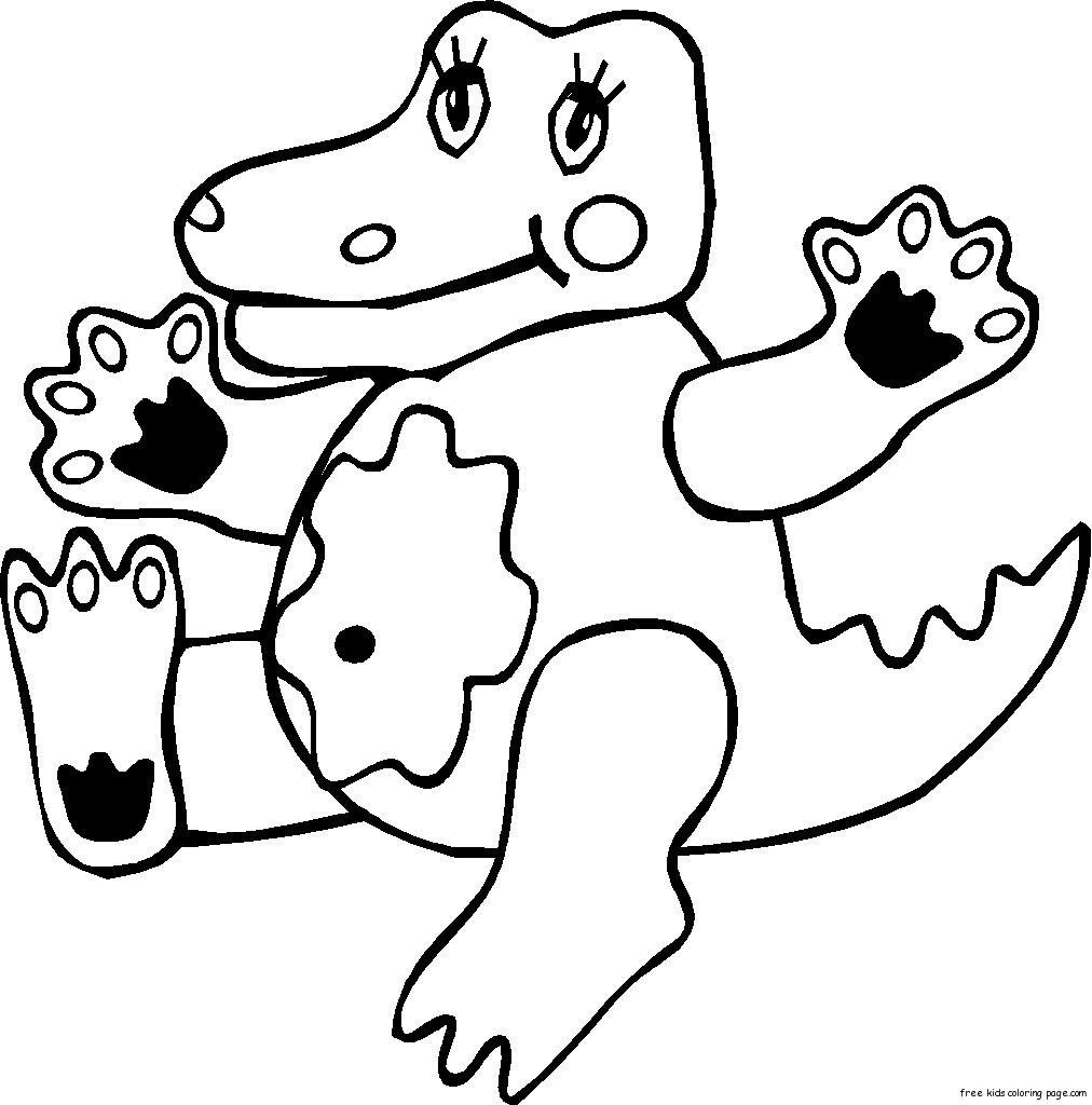 1012x1024 Coloring Pages Animals Kids Coloring Pages Of Crocodile Kid