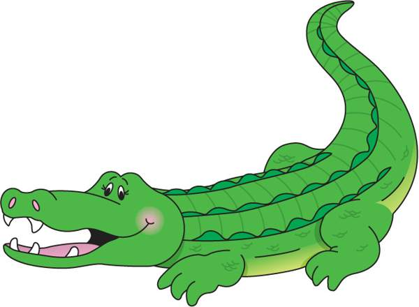 600x440 Crocodile Aligator Clipart Kid