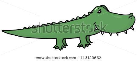 450x200 Drawn Crocodile Cute