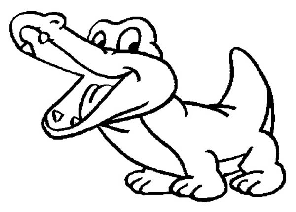 600x429 Crocodile Coloring Pages