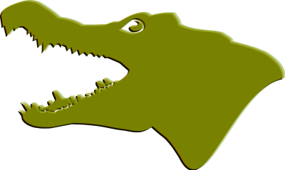 400x239 Alligator Clipart Outline