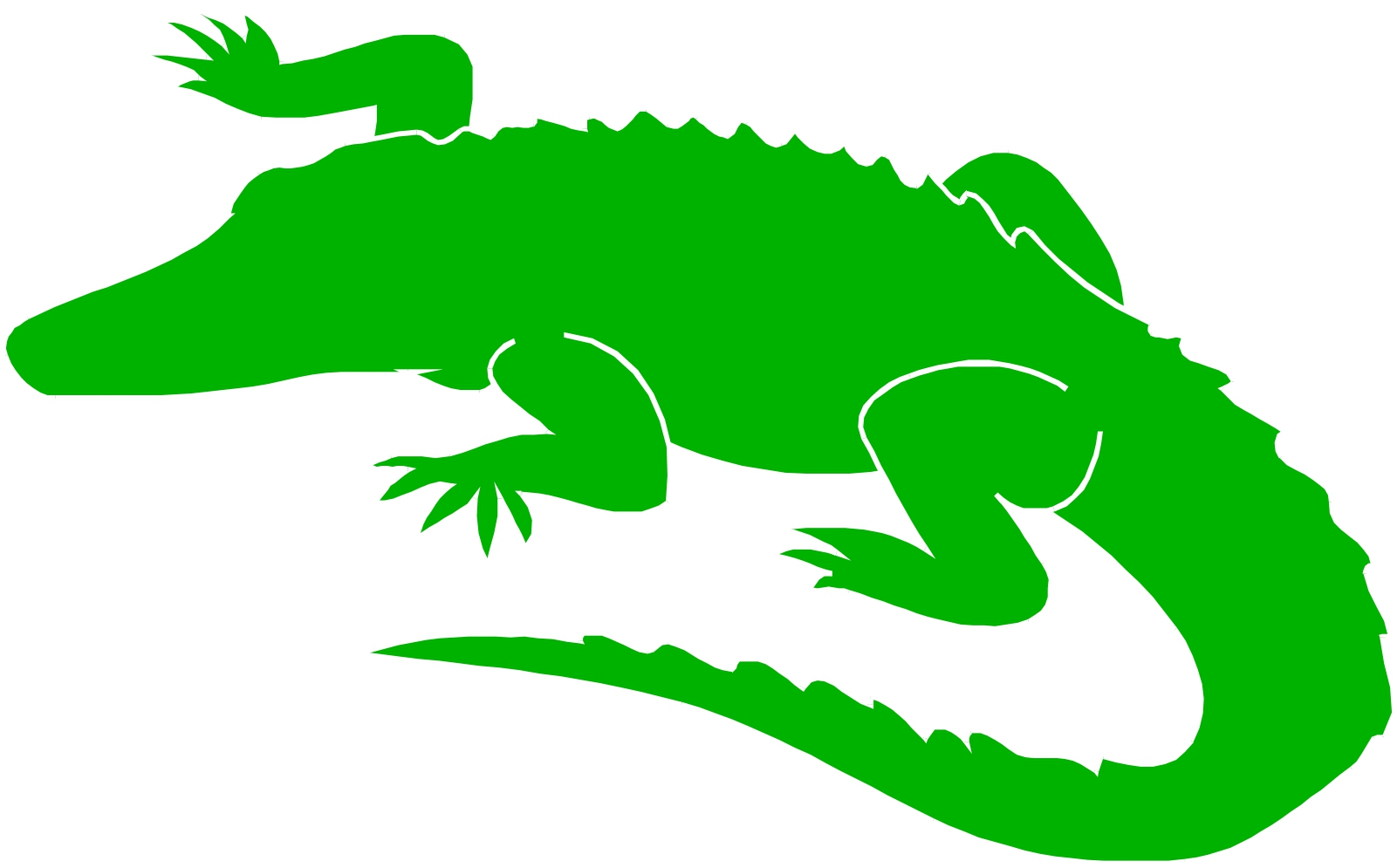 1601x995 Crocodile Clipart Outline