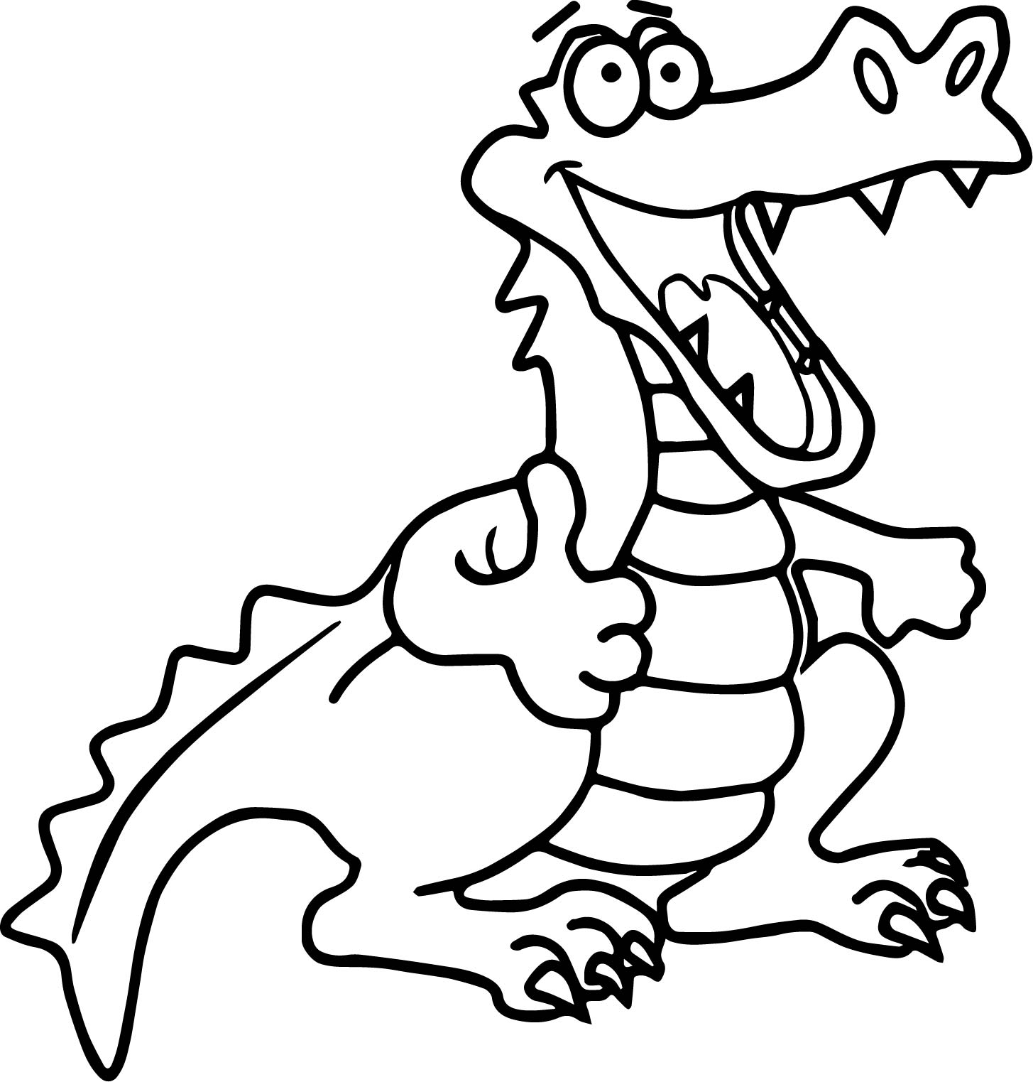 1455x1523 Happy Crocodile Alligator Coloring Page Wecoloringpage