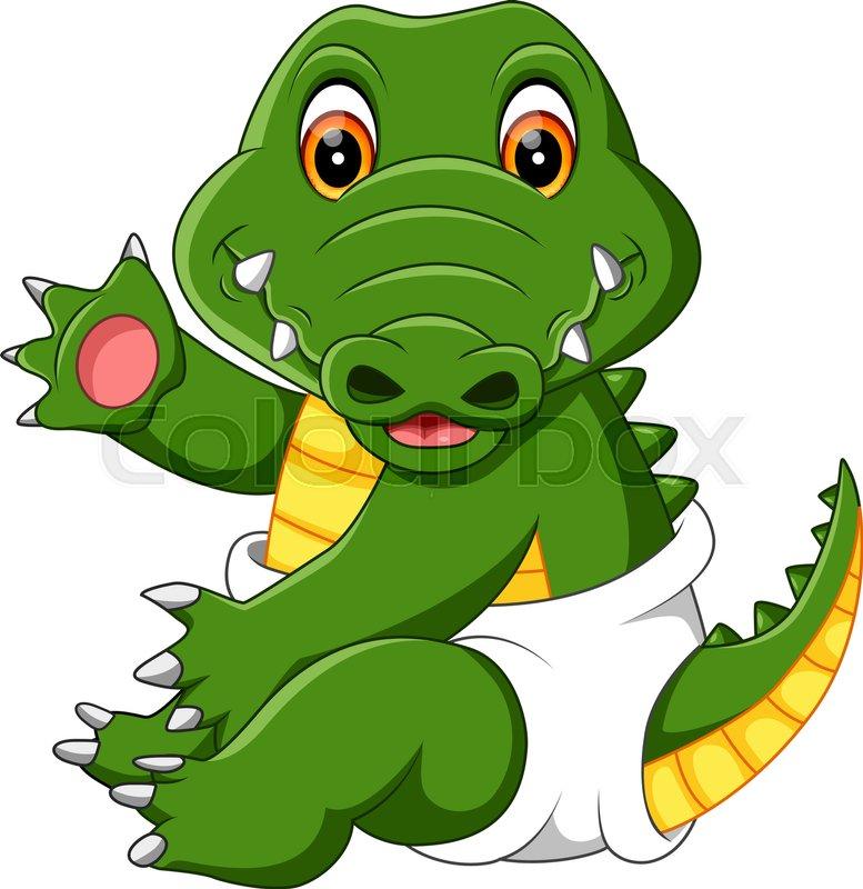 777x800 Funny Crocodile Cartoon Stock Vector Colourbox