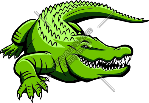 500x345 Green Gator Graphic Clipart And Vectorart Sports Mascots
