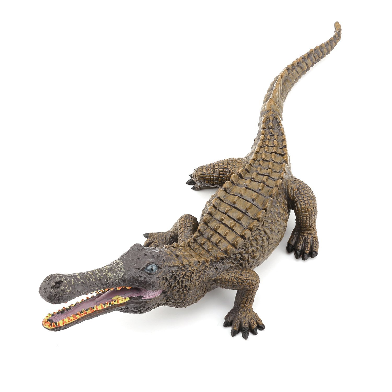 1500x1500 Zooawa Wildlife Nile Crocodile Figure Model Toy
