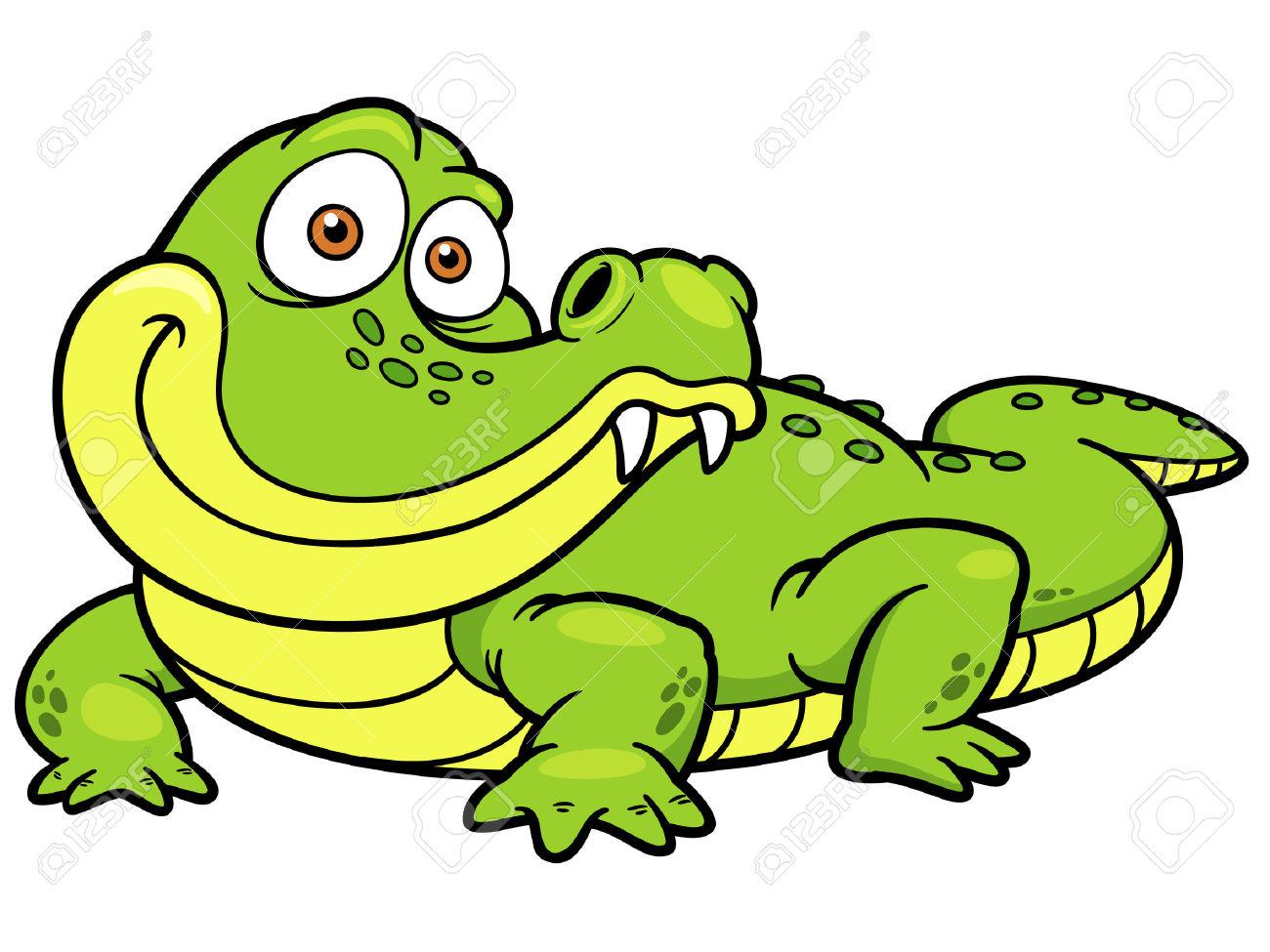 1300x975 Crocodile Clipart Vector