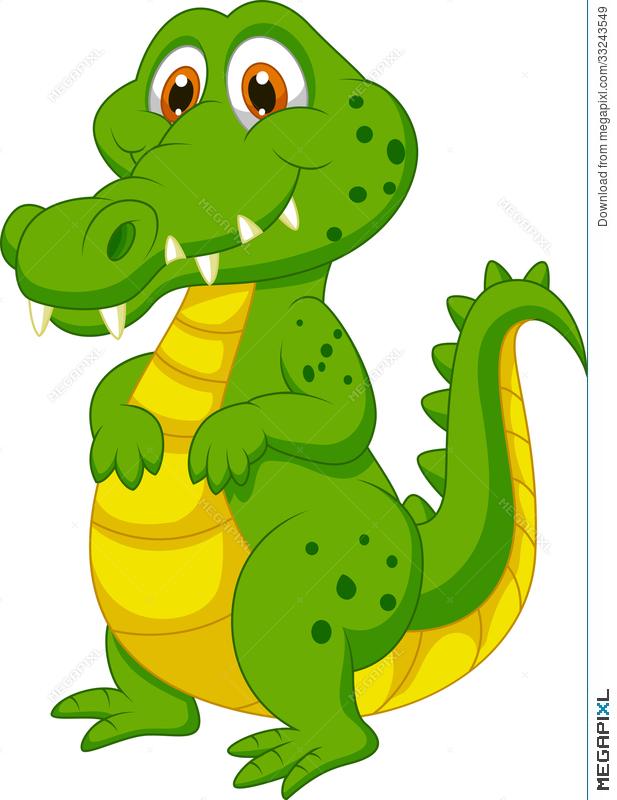 617x800 Cute Crocodile Cartoon Illustration 33243549