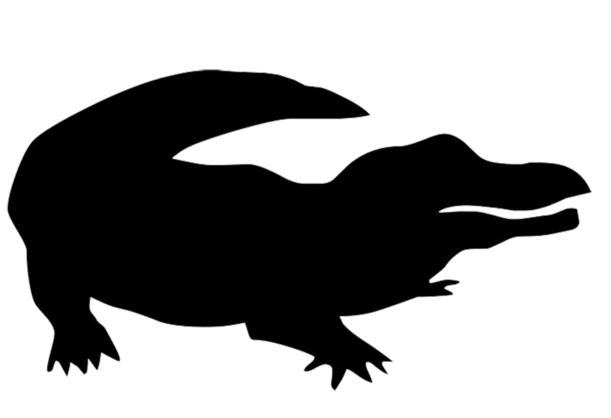 886x607 Crocodile Clipart Shadow
