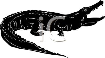 350x193 Crocodile Clipart Silhouette