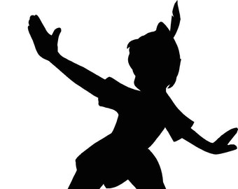 340x270 Peter Pan Silhouette Clipart