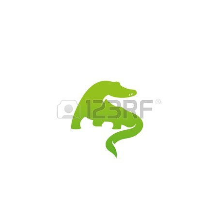 450x450 Silhouette Logo, Icon Template. Crocodile Design, Alligator Icon