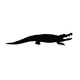 270x270 Alligator Silhouette Stencil D Silhouette