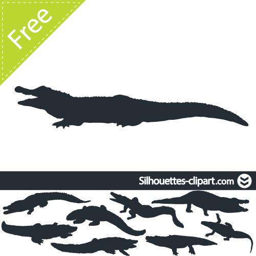 500x500 Vector Crocodile Silhouette Suroboyo Crocodile