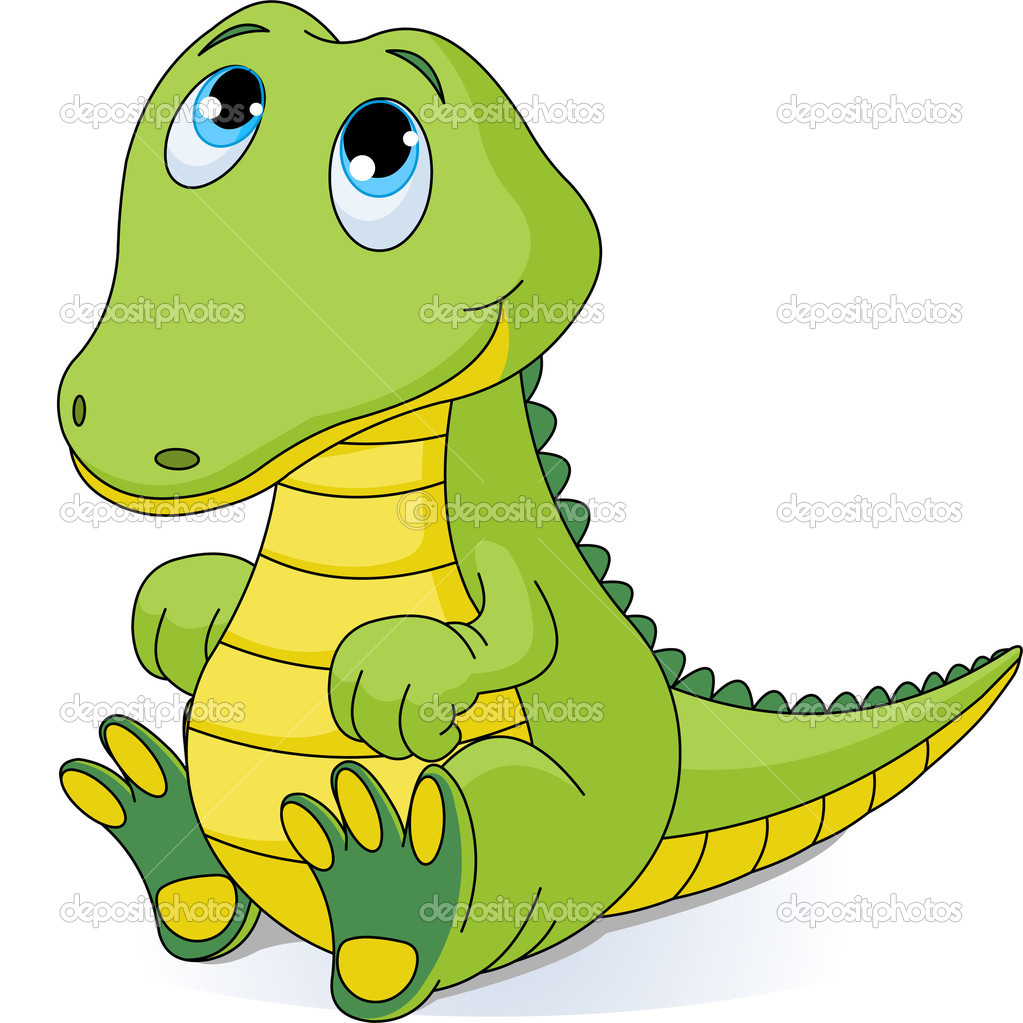 1023x1023 Baby Alligator Clip Art Baby Crocodile Stock Vector Anna