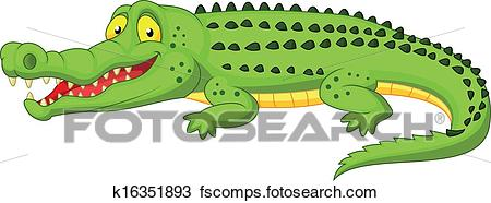 450x186 Clipart Of Crocodile Cartoon K16351893