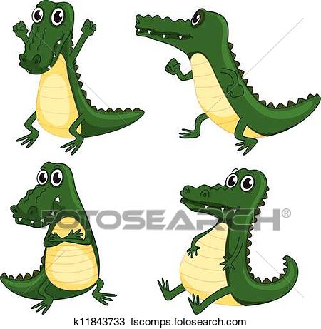 450x461 Clipart Of Crocodiles K11843733