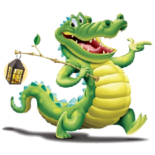 320x320 Crocodile Dock Clip Art