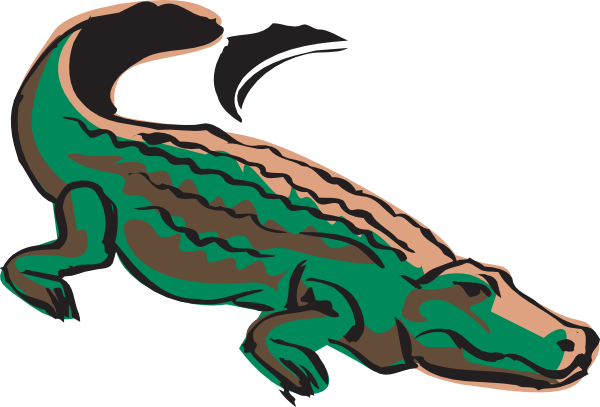 600x407 Crocodile Clip Art