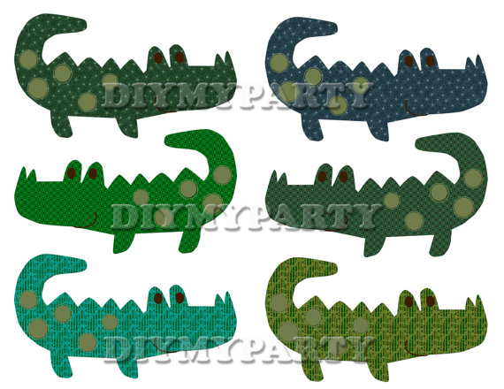 570x440 Printable Party Decor Crocodiles Clip Art Crocodile Clipart