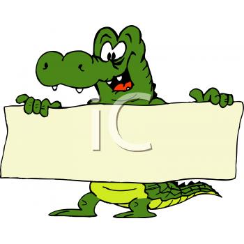 350x350 Royalty Free Crocodile Clip Art, Reptile Clipart