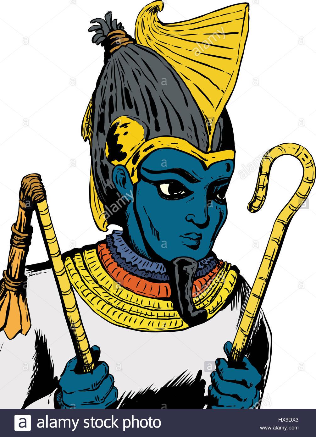 1005x1390 Illustration Of Osiris, The Egyptian God, Holding His Crook