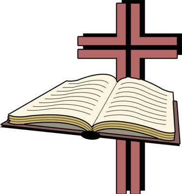 376x400 Image Open Bible Before A Cross Image
