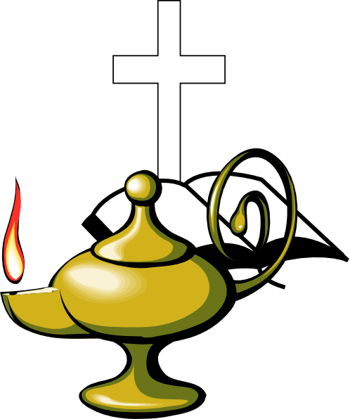 498x596 Lamp With Bible And Cross Clip Art