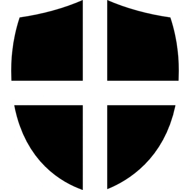626x626 Shield With Cross Icons Free Download