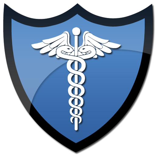512x512 Symbol Of Caduceus On A Shield Clipart Image