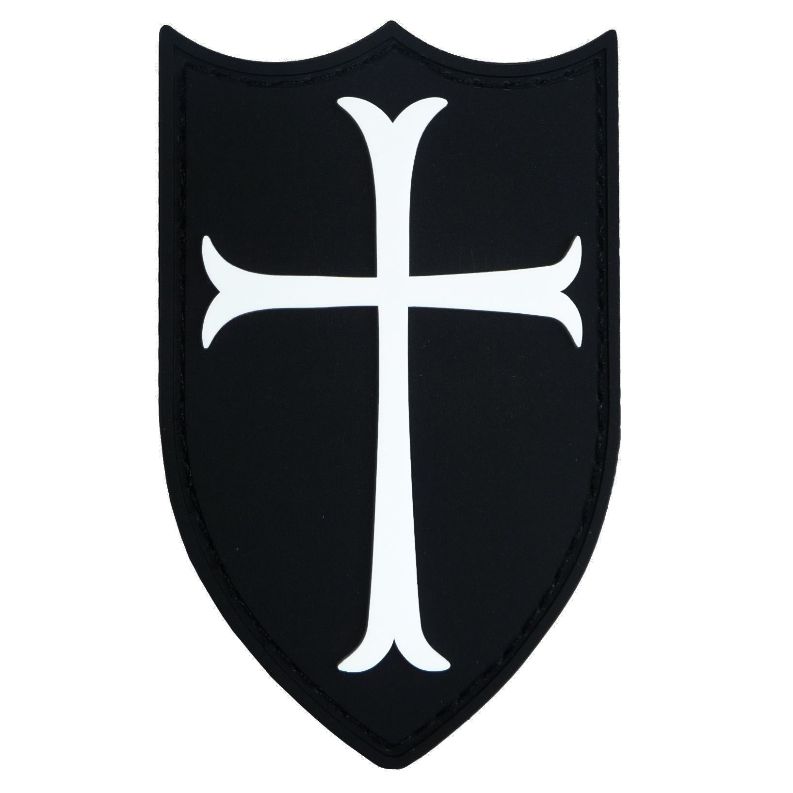 1635x1635 Airsoft Crusader Cross Shield Rubber 3d Navy Seals Patch Black
