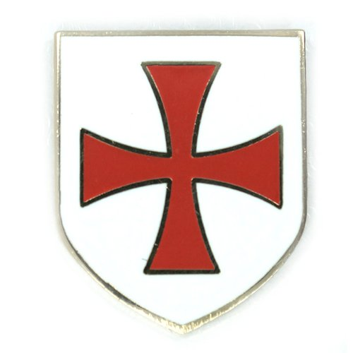 500x500 Knights Templar Crusader Red Cross White Shield Lapel