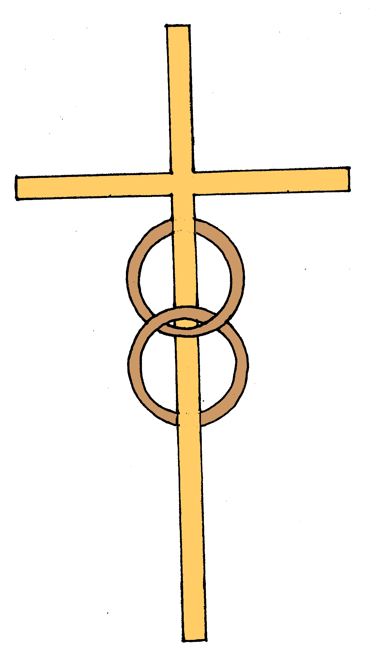 Cross And Wedding Rings Clipart