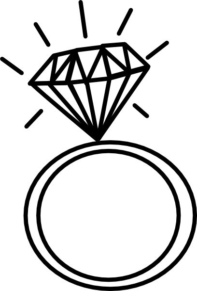 408x600 Wedding Ring Engagement Ring Graphic Rings Clipart