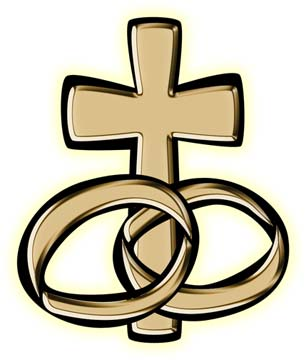306x360 Cross And Wedding Rings Clipart