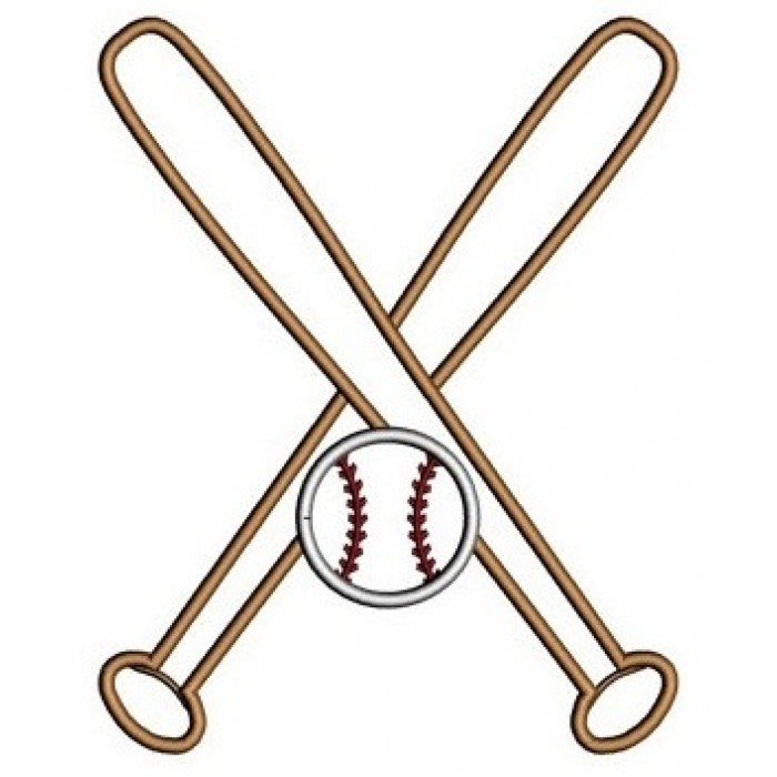 700x700 Baseball Bats Crossed