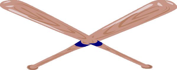 600x239 Crossed Baseball Bat Clip Art