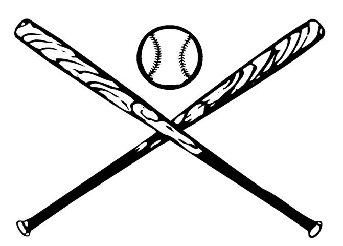 Baseball bat crossed. Cross bats free download