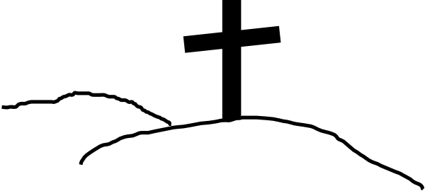 600x270 Cross On Hill Clip Art