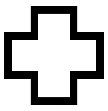413x425 Red Cross Clipart Black And White